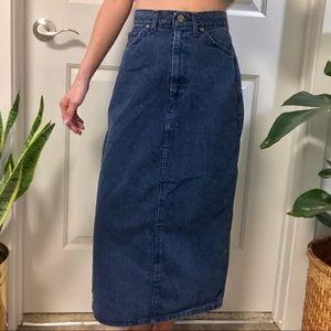 Dresses & Skirts - Vintage 90s Chic Denim Midi Skirt